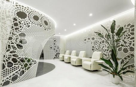 美甲店装修设计 花纹空间